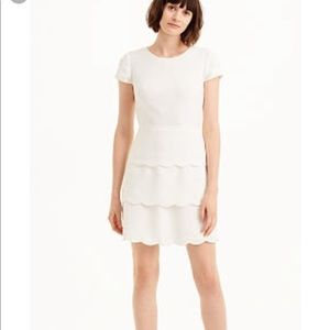 Club Monaco White Colby Scalloped Dress